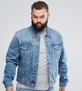 Asos PLUS Denim Jacket in Light Wash