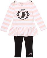 Juicy Couture Pink Stripe Tunic & Black Leggings - Infant Toddler & Girls