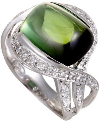 Heritage Platinum 10.57 Ct. Tw. Diamond & Tourmaline Ring