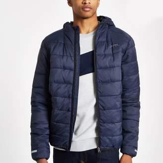 Bellfield Mens River Island Navy puffer jacket