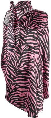 MM6 MAISON MARGIELA Zebra Print Short Dress