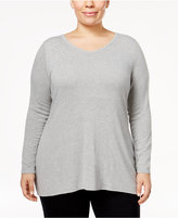 Belldini Plus Size Embellished Crisscross Top