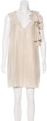 Nellie Partow Silk Metallic Dress