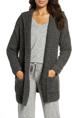 Barefoot Dreams Boucle Knit Hooded Cardigan
