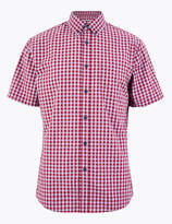 M&S CollectionMarks and Spencer Cotton Checked Relaxed Fit Shirt