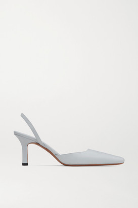 Neous Dracu Leather Slingback Pumps - Light gray