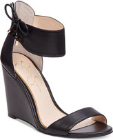 Jessica Simpson Breeley Two-Piece Wedge Sandals