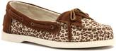 Lamo Brown & Natural Leopard Gypsy Boat Shoe - Women