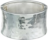 Robert Lee Morris Wide Hammered Hinge Bangle Bracelet