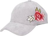 David & Young Gray & Pink Floral Embroidered Baseball Cap