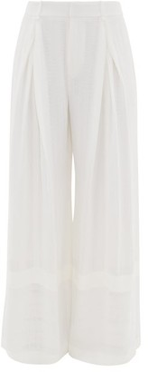 Roland Mouret Valens High-rise Wide-leg Trousers - Womens - White