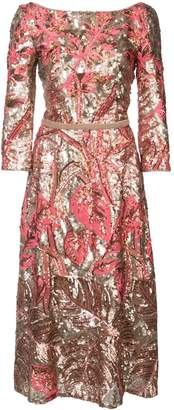 Marchesa floral sequinned dress