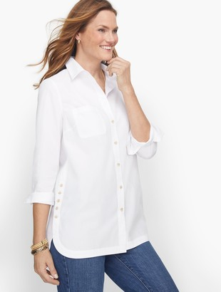 Talbots Poplin Relaxed Tunic-Solid