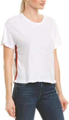 Monrow Vintage Rainbow Stripe T-Shirt
