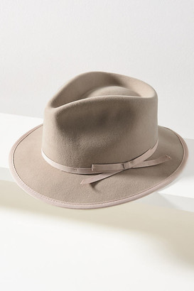 Anthropologie Lex Trimmed Fedora By in Grey Size ALL
