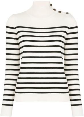 Nili Lotan striped mock-neck jumper