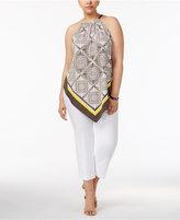 Alfani Plus Size Chain-Neck Top, Created for Macy's