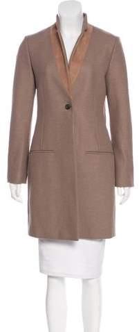 AllSaints Suede-Trimmedh Lorie Coat
