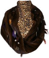 Liska feather embellished snood