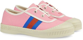 Gucci Kids Canvas Lace-Up Sneakers