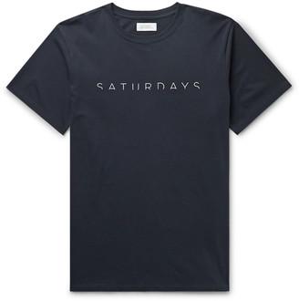Saturdays NYC Horizon Printed Cotton-Jersey T-Shirt