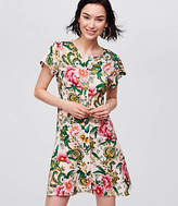 LOFT Petite Camellia Garden Shirtdress