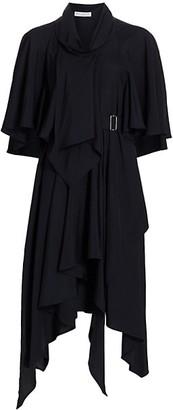 J.W.Anderson Belted Asymmetric Draped Dress