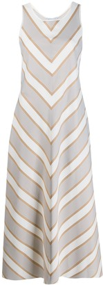 ODYSSEE Wisteria striped midi dress