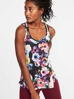 Old Navy Strappy Floral-Print Performance Tank for Women