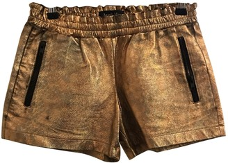 April May Metallic Leather Shorts for Women