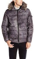 Calvin Klein Jeans Men's Faux Fur Hood Snorkel Puffer Jacket