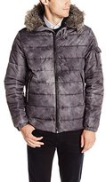 Calvin Klein Jeans Men's Fur Hood Snorkel Puffer Jacket