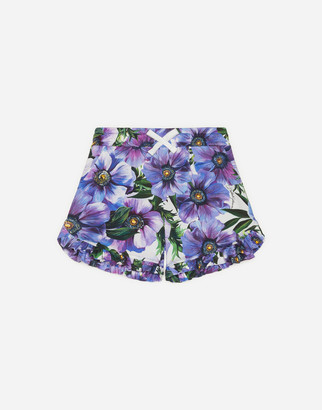 Dolce & Gabbana Interlock Shorts With Anemone Print