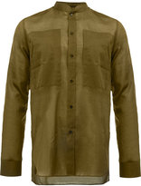 Balmain slim mandarin collar shirt - men - Cotton - 39