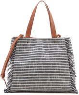Sole Society Huxlee Fabric Tote w/ Fringe