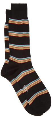 Paul Smith Striped Cotton-blend Socks - Black Multi
