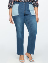 ELOQUII Plus Size Patch Pocket Jeans