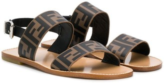 Fendi Kids TEEN FF print sandals