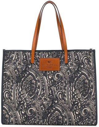 Etro Paisley Print Shopper Tote Bag