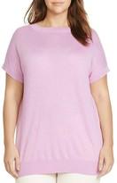 Lauren Ralph Lauren Plus Silk-Blend Cap-Sleeve Sweater