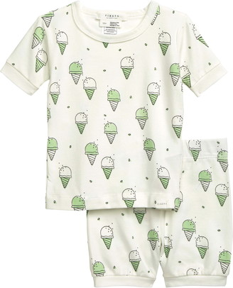 Petit Lem Fitted Two-Piece Short Sleeve Cotton Pajamas