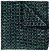 Charles Tyrwhitt Forest green wire lattice classic pocket square