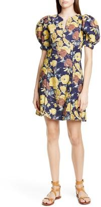 Sea Ella Floral Puff Sleeve Minidress