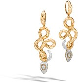 John Hardy Cobra Drop Earrings With Diamonds