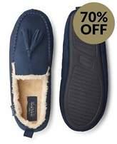 Savile Row Men's Navy Moccasin Slippers
