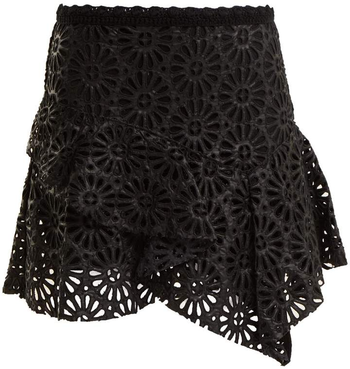 Isabel Marant Daley broderie-anglaise mini skirt