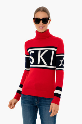 Perfect Moment Red Schild Sweater