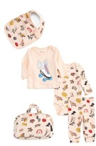 Eleven Paris Infant Girl's Little Elevenparis Sticker Print Five-Piece Gift Set