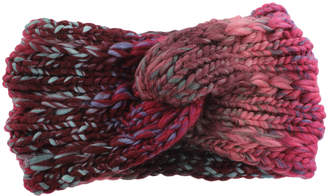 David & Young Women's Ear Warmers red - Red Ombre Knit Head Wrap