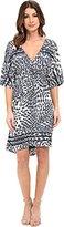 LAmade Women's Lill Kimono Radial Print Dress
